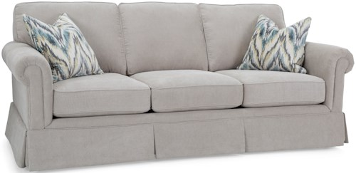 Decor-Rest 2662 Traditional Sofa with Skirted Base