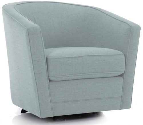 Decor-Rest 2693 Casual Swivel Chair with Welt Cord Trim