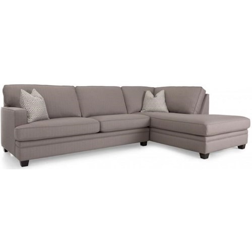 Decor-Rest 2696 Contemporary Sectional Sofa with Chaise