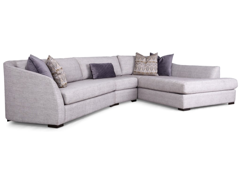 Taelor Designs 27033 Pc Sectional Sofa