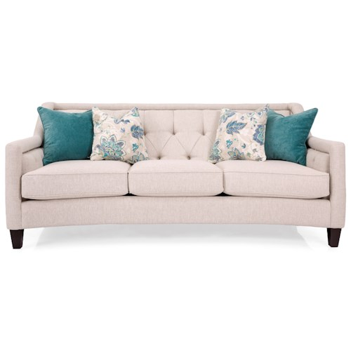 Decor-Rest 2779 Transitional Sofa with Framed Tufted Back and Nailheads
