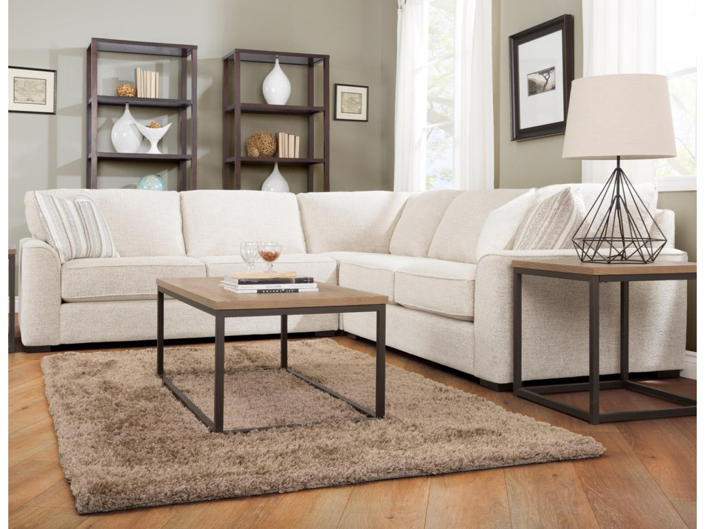 Taelor Designs 27863 Pc Sectional Sofa