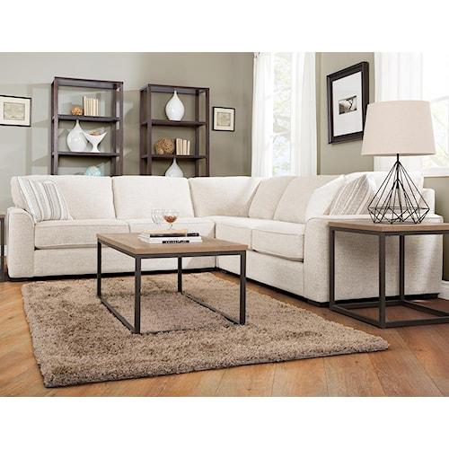 Decor-Rest 2786 Three Piece Corner Sectional Sofa