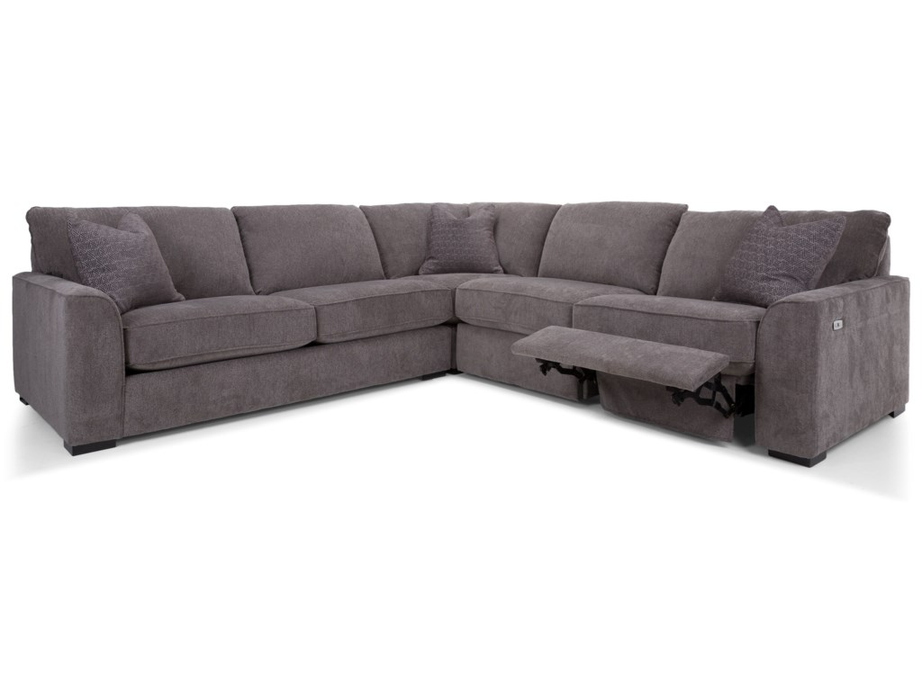 Decor-Rest 27863-Piece Reclining Sectional Sofa