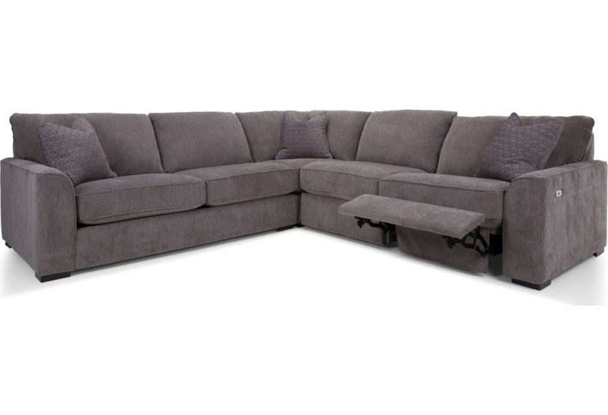 Decor-rest reclining sectional