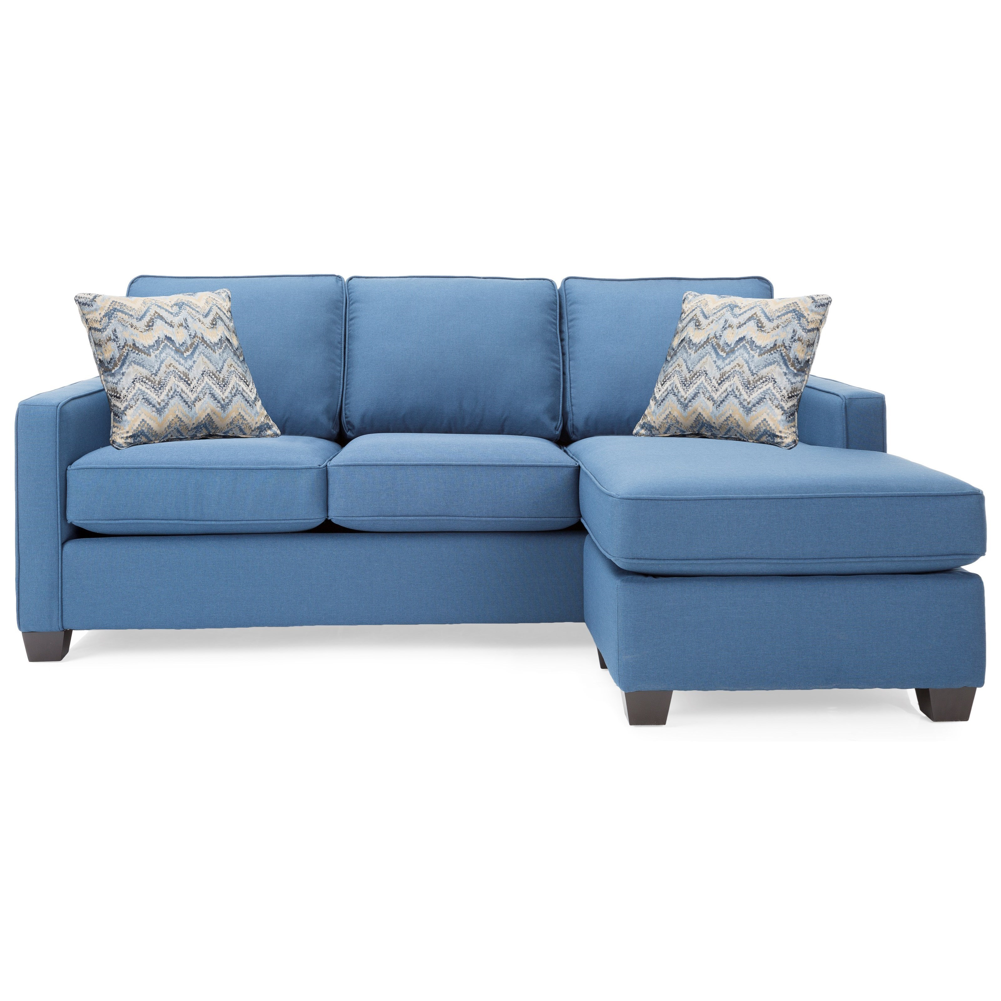 Decor Rest 2855 Contemporary Sofa With Chaise Stoney Creek