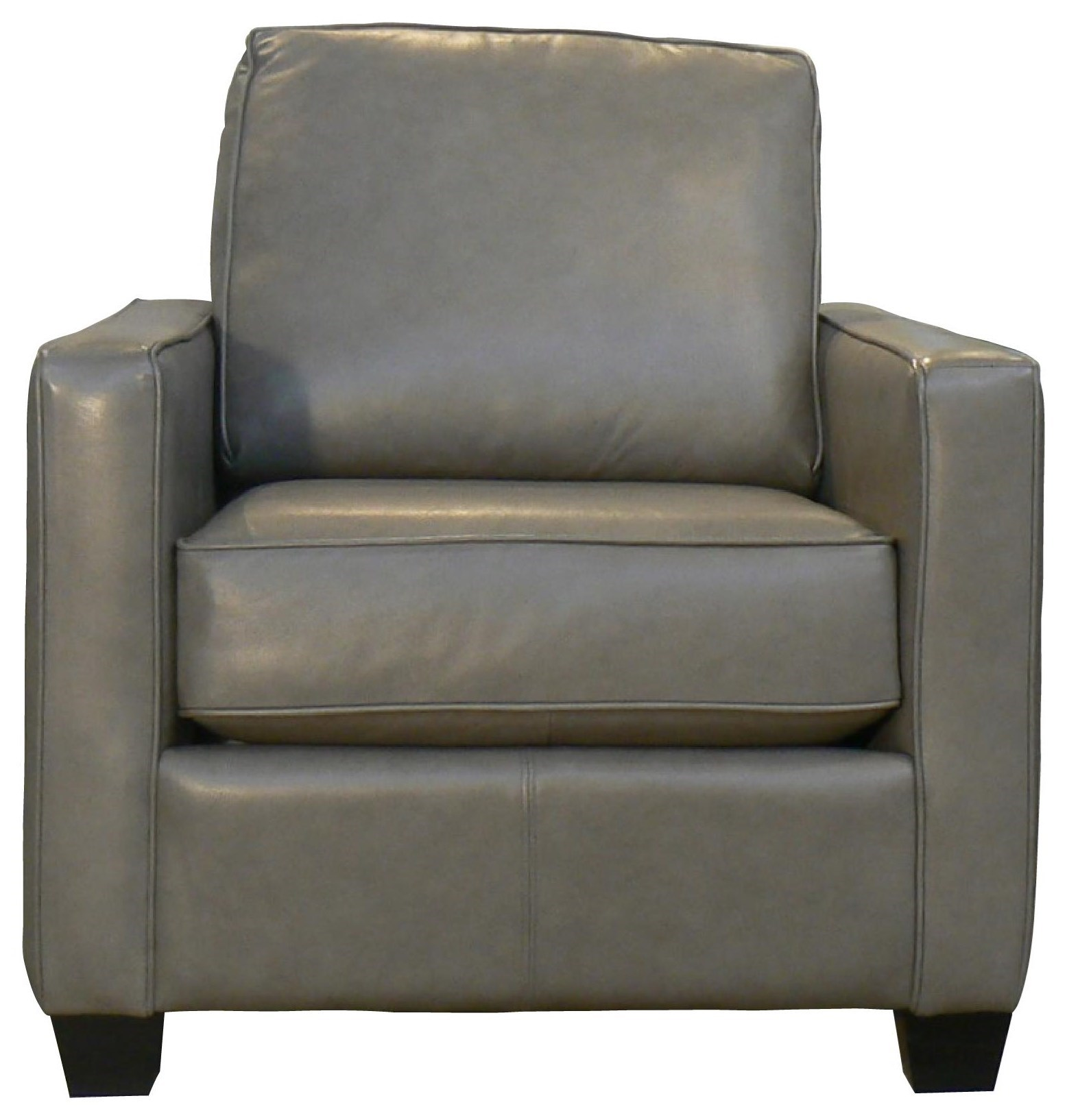 Taelor Designs Lara Contemporary Leather Chair With Track Arms Bennett S Furniture And Mattresses Upholstered Chairs