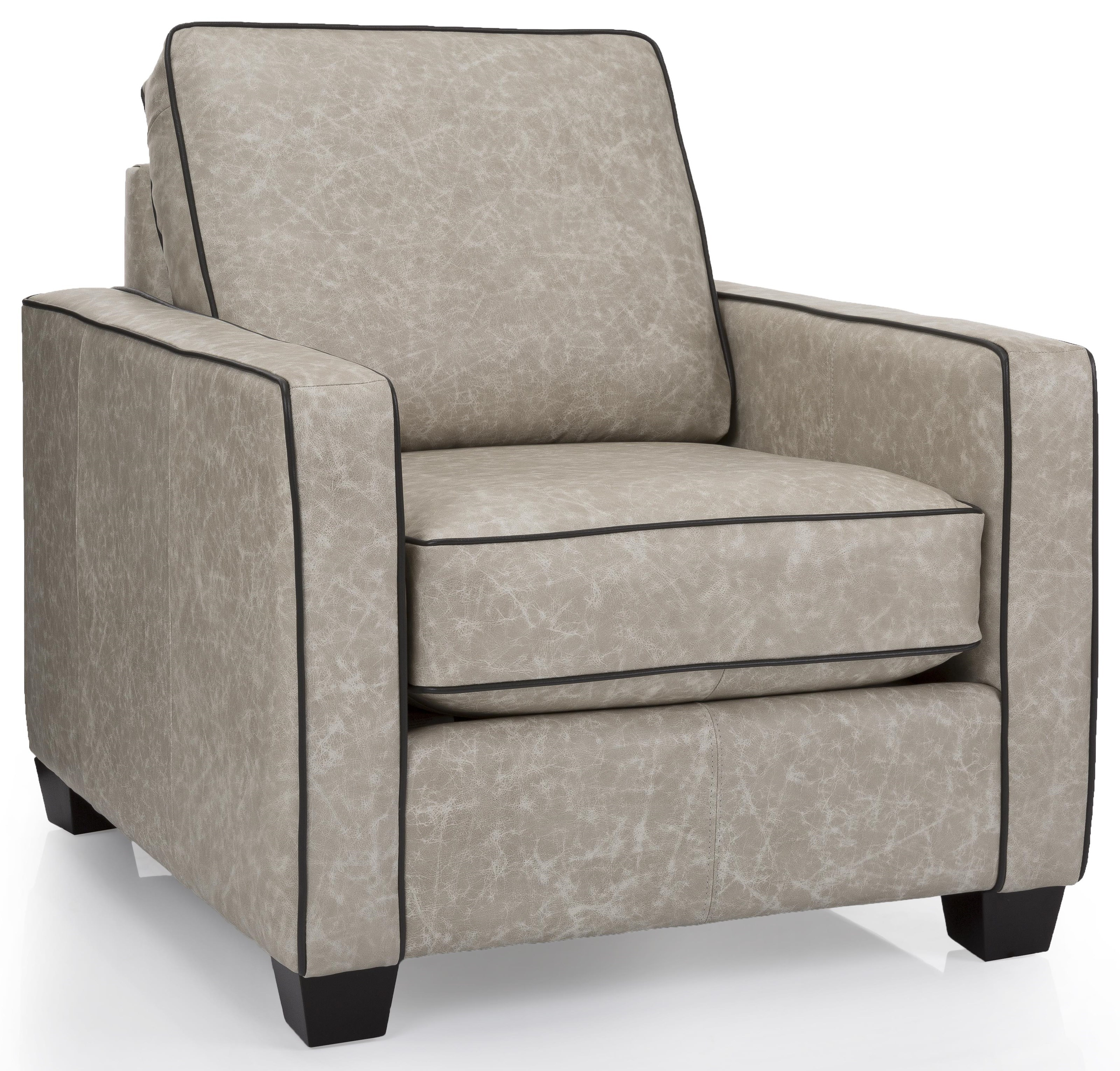 Image of: Taelor Designs Lara Contemporary Leather Chair With Track Arms Bennett S Furniture And Mattresses Upholstered Chairs