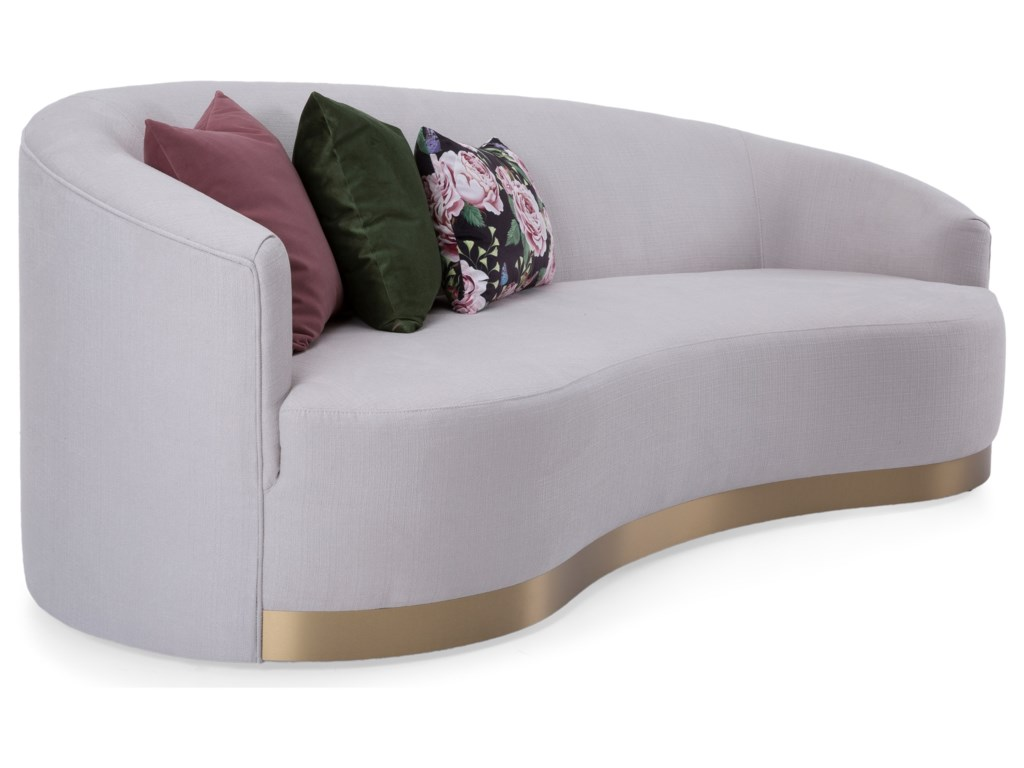 Taelor Designs 2936Asymmetrical Kidney Shape Sofa