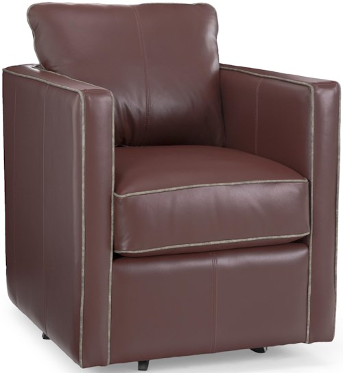Decor-Rest 3050 Traditional Swivel Chair with Nailhead Trim