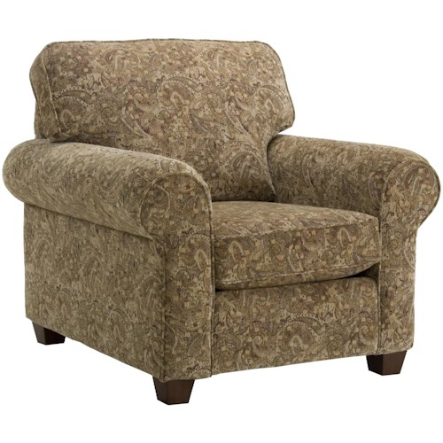 Decor-Rest 2179 Classic Upholstered Chair with Rolled Arms