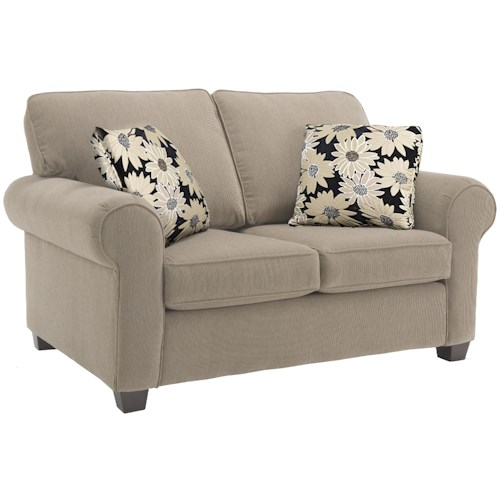 Decor-Rest 2179 Classic Upholstered Loveseat with Rolled Arms