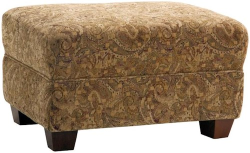 Decor-Rest 2179 Upholstered Ottoman with Tapered Legs