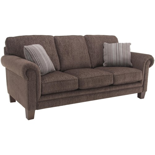 Decor-Rest 2179 Upholstered Sofa with Rolled Arms