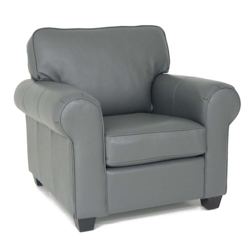Decor-Rest 3179 Classic Upholstered Chair with Rolled Arms