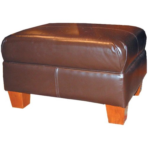 Decor-Rest 3179 Upholstered Ottoman with Tapered Legs
