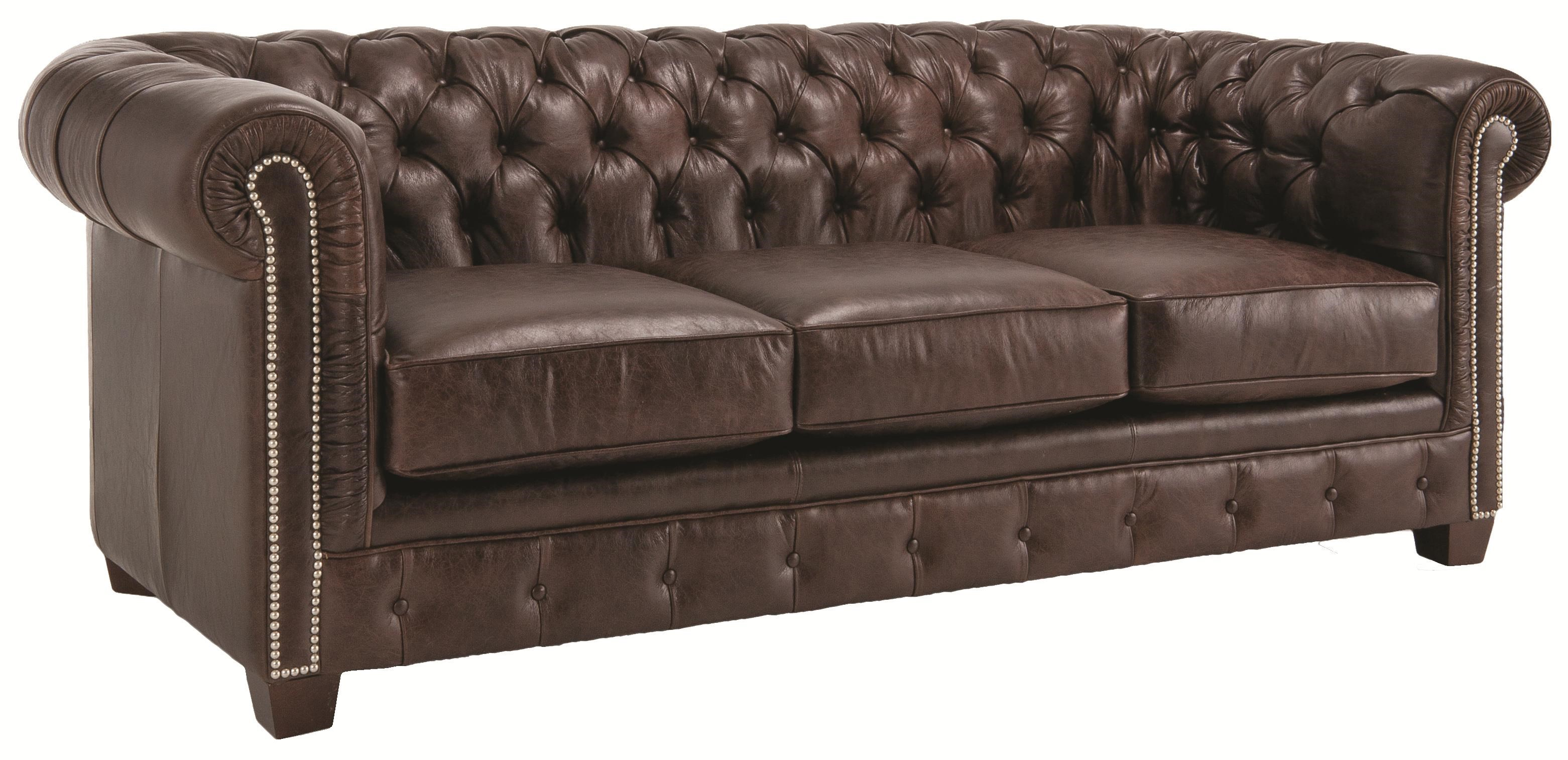 Decor Rest 3230 Traditional Styled Tuxedo Sofa With Deep Tufted Seat Back  And Rolled Arms   Sheelyu0027s Furniture U0026 Appliance   Sofas