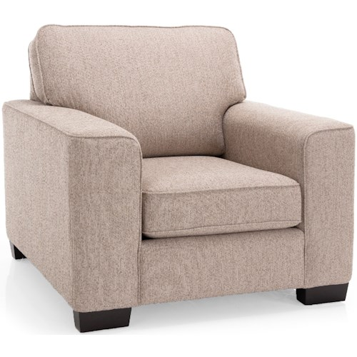 Decor-Rest 3483 Contemporary Chair with Tapered Block Feet