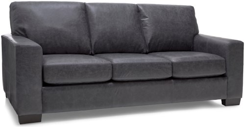 Decor-Rest 3483 Contemporary Sofa with Tapered Block Feet