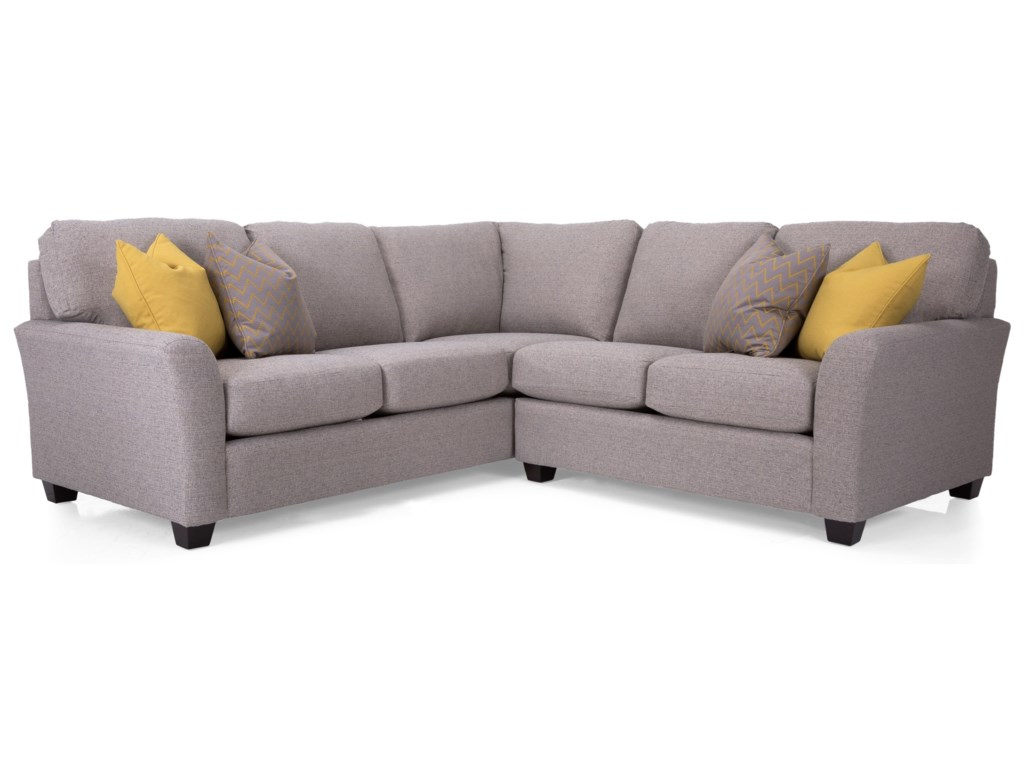Taelor Designs Alessandra Connections Casual Sectional Sofa With