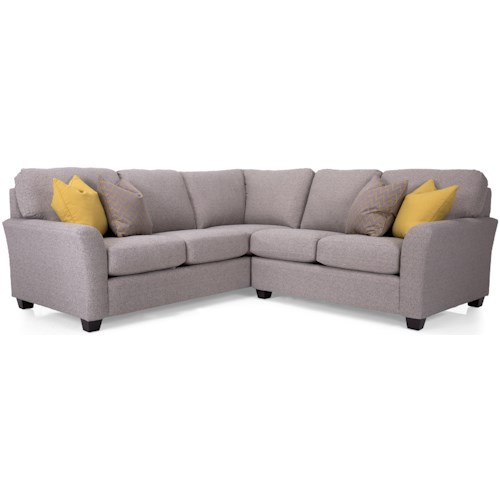 Decor-Rest 2A1 Casual Sectional Sofa with Flared Arms