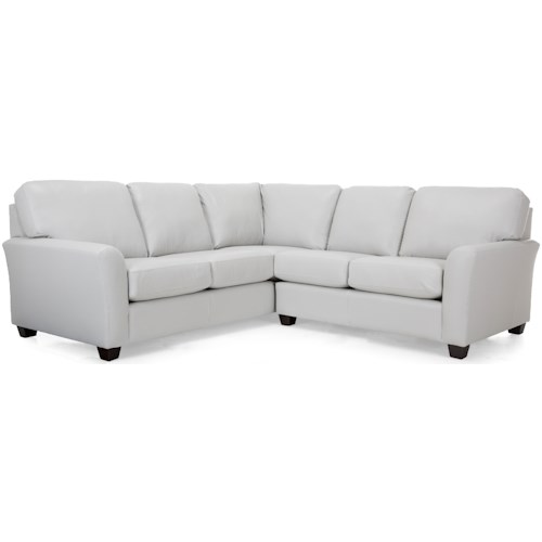 Decor-Rest 3A1 Casual Sectional Sofa with Flared Arms