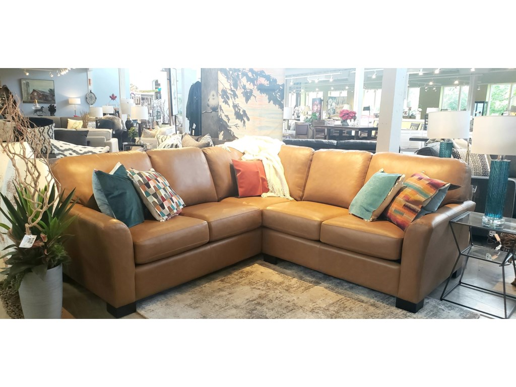 Taelor Designs GarthLeather Sectional