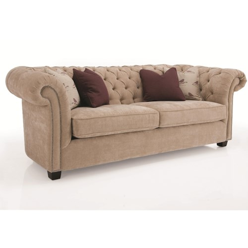 Decor-Rest Churchill Tuxedo Sofa with Button Tufting