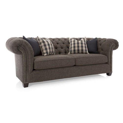 Decor-Rest Churchill Tuxedo Sofa with Button Tufting
