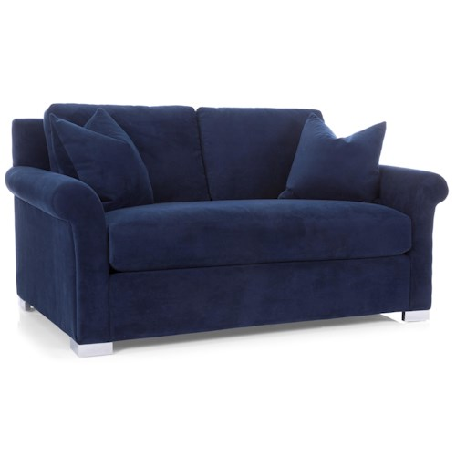 Decor-Rest 7646 Casual Loveseat with Bench Cushion
