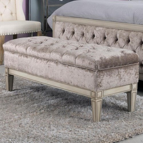 Decor-Rest Angelina Upholstered Storage Bench with Tufting