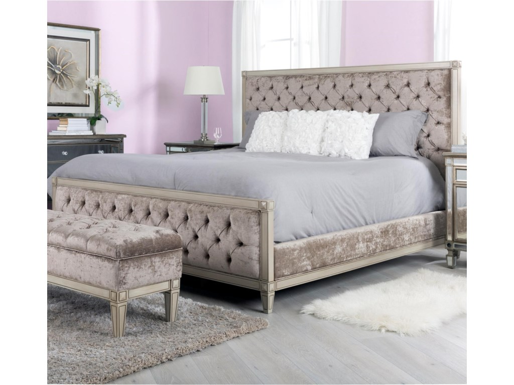 Decor-Rest AngelinaQueen Upholstered Bed