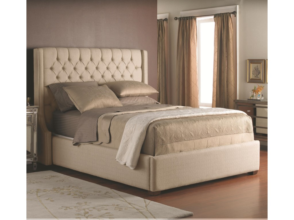 building easy headboard mcarthur upholstered fabric master a bedroom the in homes