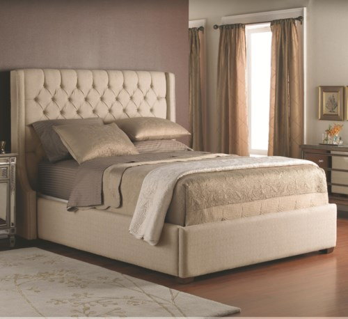 Latest Decor Rest Beds King Size Upholstered Headboard with Button Tufts and Base Idea - Modern upholstered bed frame and headboard Photo