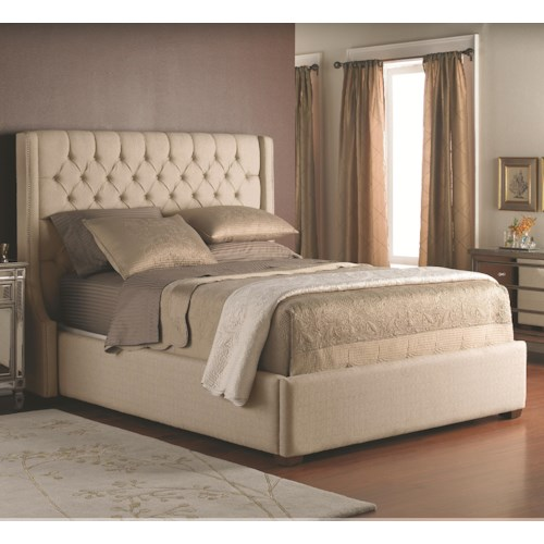 Decor Rest Beds Queen Size Upholstered Headboard With On Tufts And Base