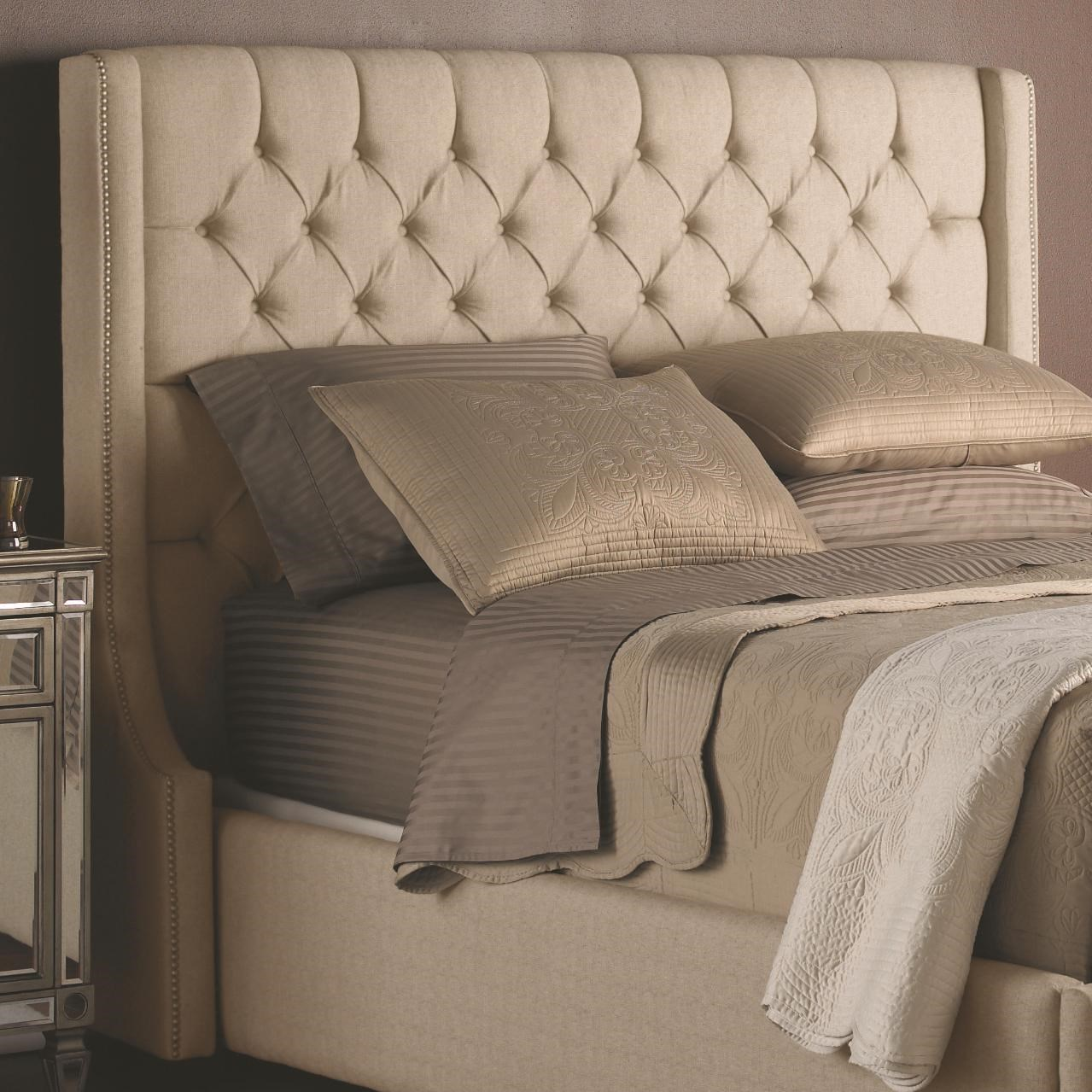 decorrest beds  king upholstered headboard with button tufting, Headboard designs