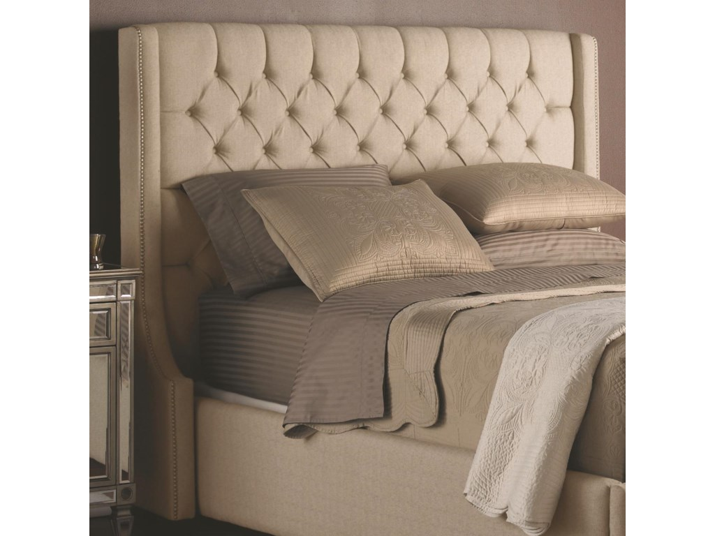 upholstered button tufted headboard queen bed linen wit platform p with tan frame htm