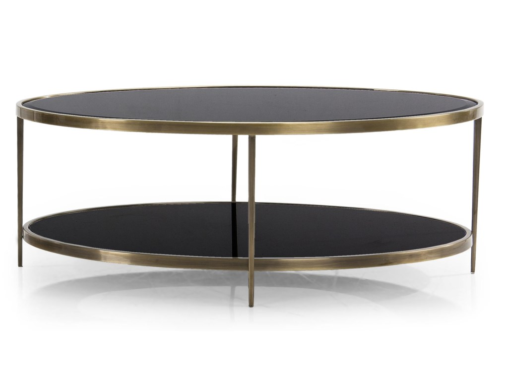 Oval Coffee Table With Shelf.Eternity Orbit Coffee Table By Decor Rest At Stoney Creek Furniture