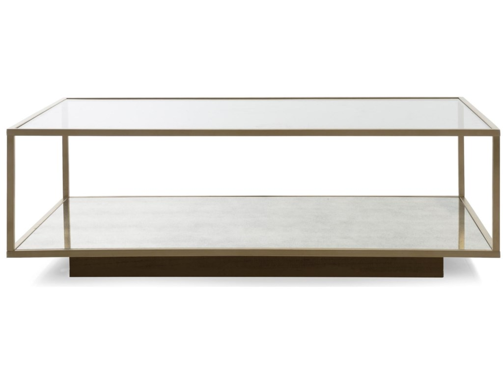Decor Rest Milan Rectangular Coffee Table With Glass Top Stoney