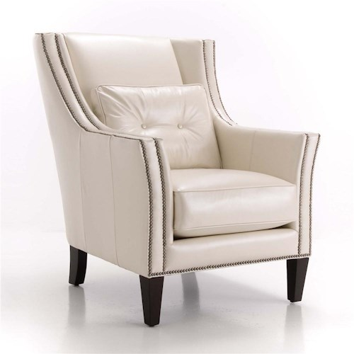 Taelor Designs Upholstered Accents Chair With Track Arms