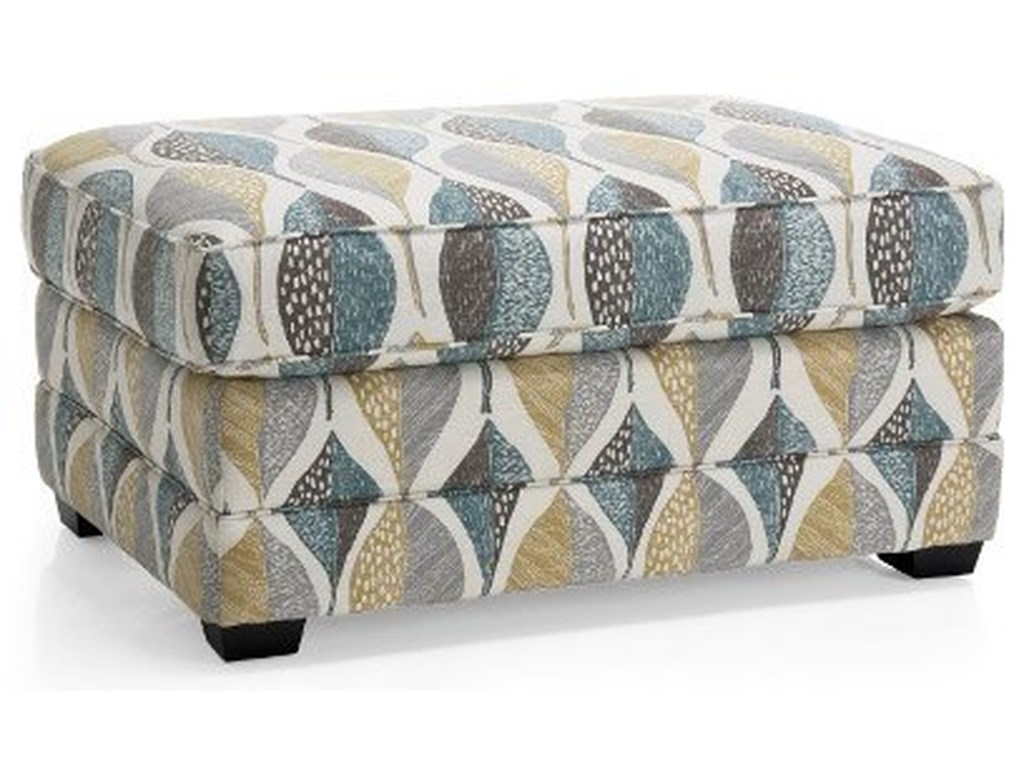 Taelor Designs Weekend Casual Ottoman Bennetts Home Furnishings