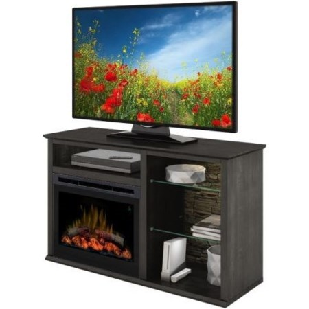 Entertainment Console with Fireplace
