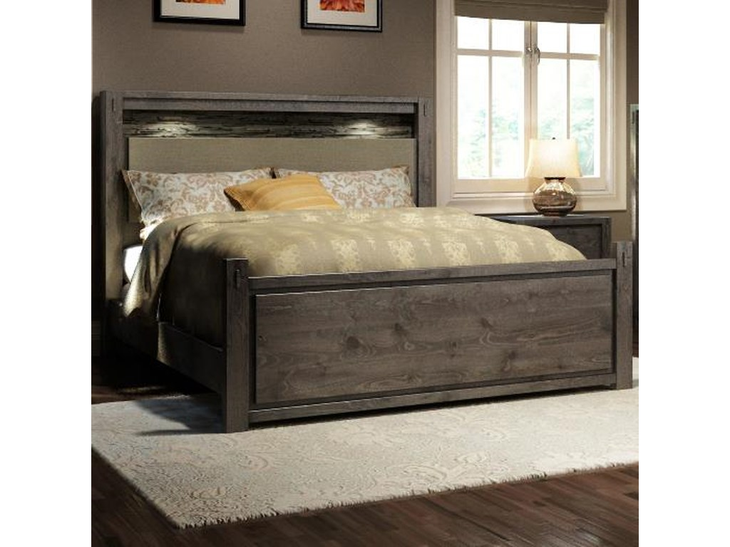 Defehr Series 697Queen Rustic Panel Bed