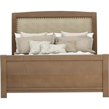 Queen Upholstered Bed with Speakers