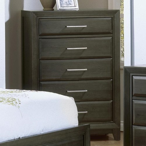 Defehr Verona  Contemporary Chest with 6 Drawers and Graphite Finish