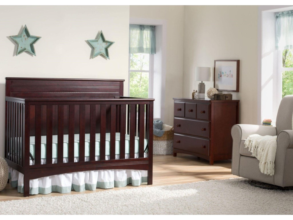 chocolate children changing crib cribs attached baby full with image for delta s gateway dark in