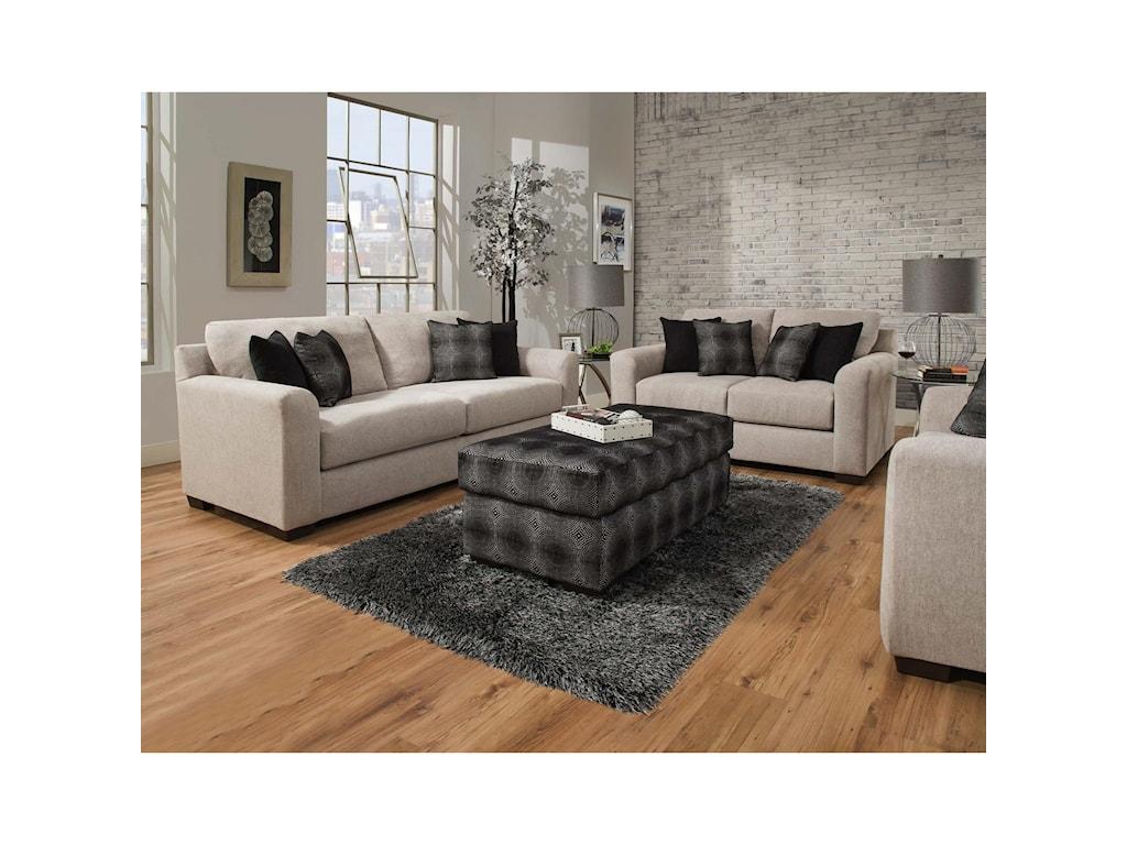 Delta Furniture Manufacturing 4100Cocktail Ottoman