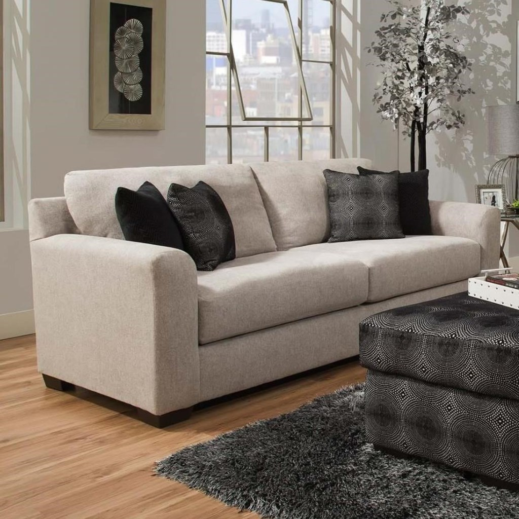 Delta Furniture Manufacturing 4100 Transitional Sofa With 4  ~ What Is A Transitional Sofa