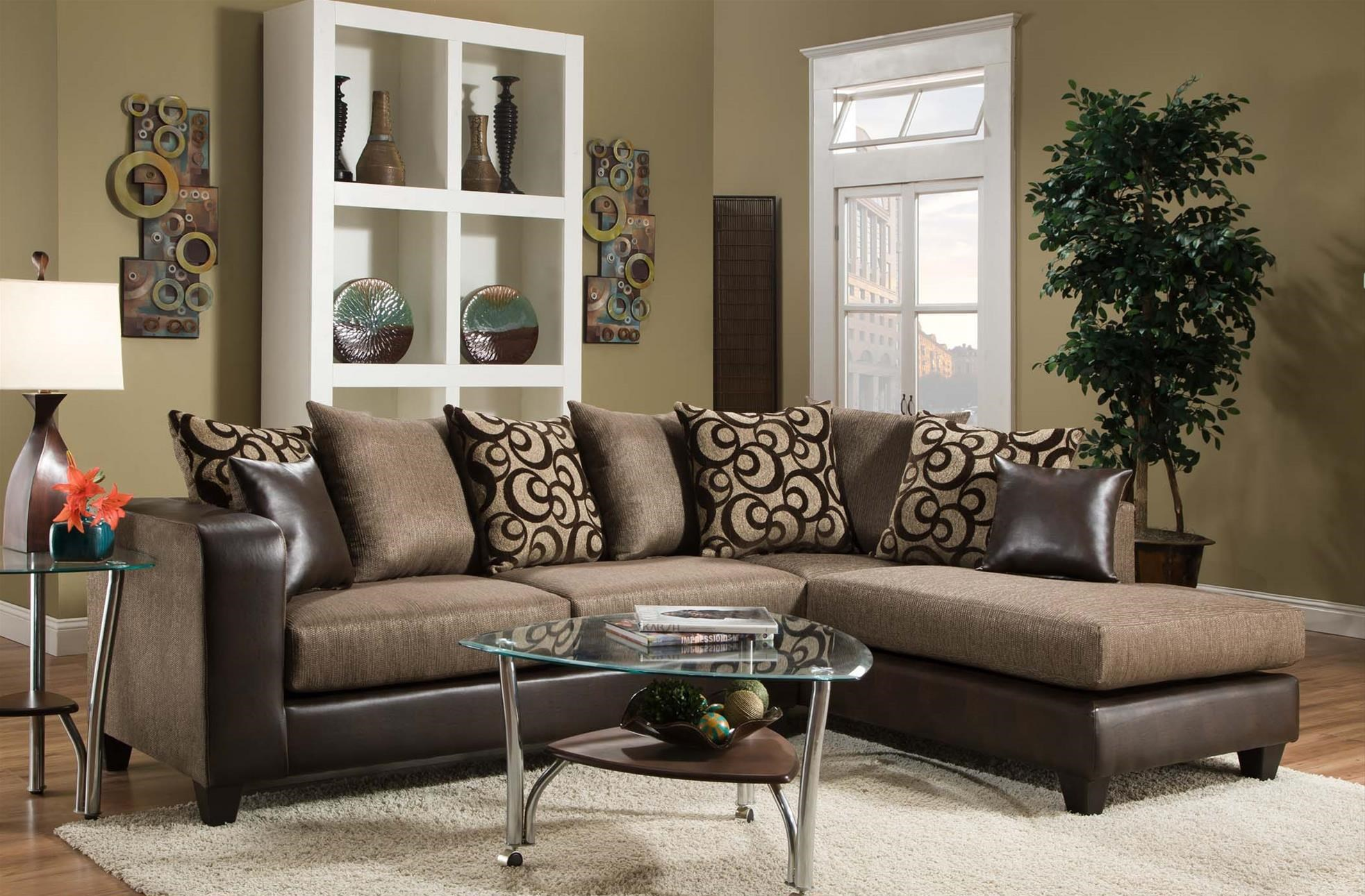 Delta Furniture Manufacturing 4124Sectional Sofa