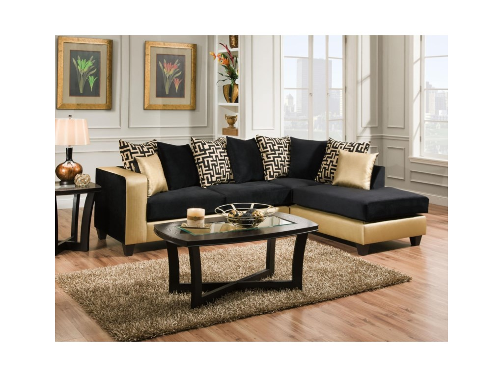 Delta Furniture Manufacturing 4124 Contemporary Sectional ...